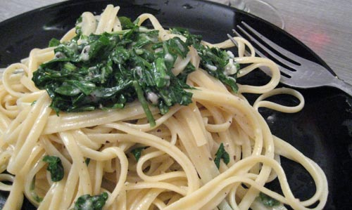 Linguine with Arugula and Black Pepper